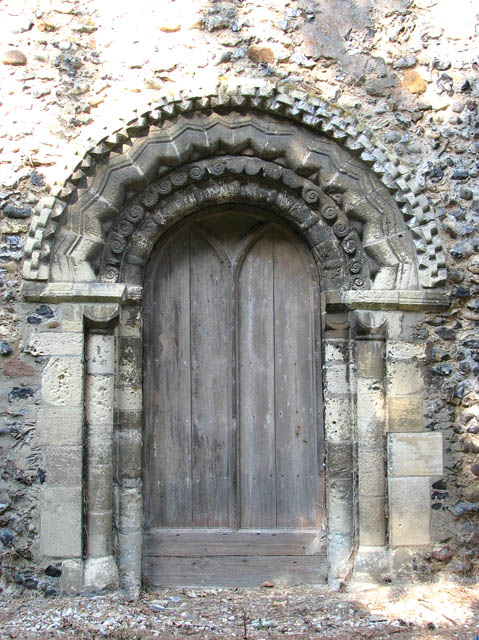 The church of All Saints  - Norman south doorway