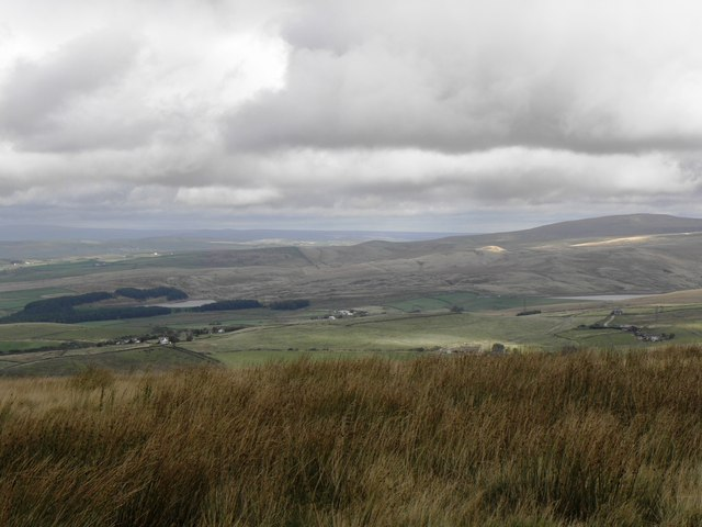 Hurstwood and Cant Clough Reservoir from Thieveley Pike, Heald Moor