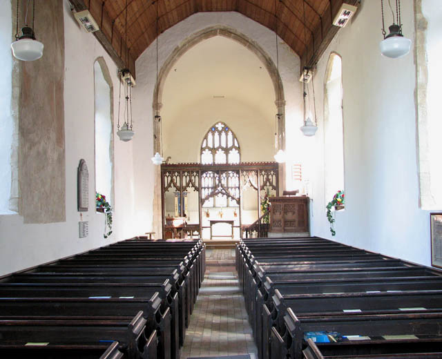 The church of All Saints - view east