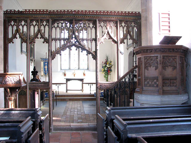 The church of All Saints - rood screen