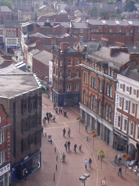 "Cornmarket from Derby ""Eye"""