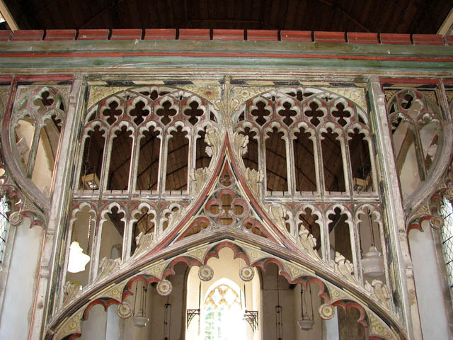 The church of All Saints - rood screen (detail)