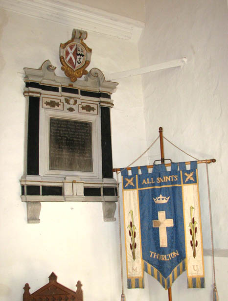 The church of All Saints - wall monument