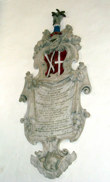 The church of All Saints - C18 wall monument