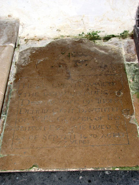 The church of All Saints - C17 ledger slab