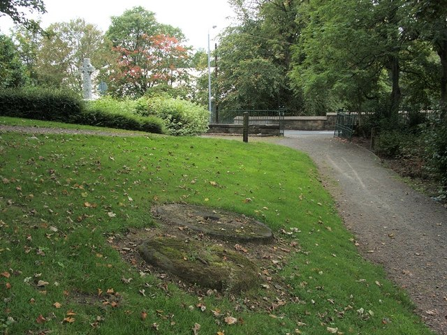 Millstones in Goldenhill Park