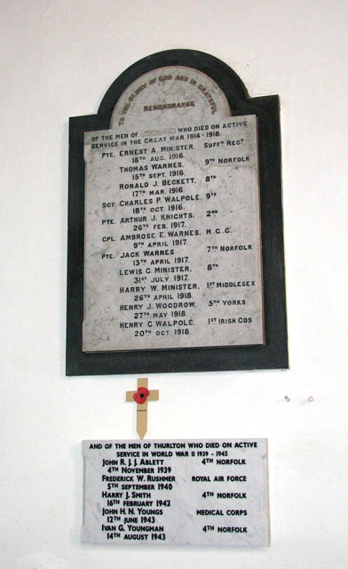 The church of All Saints - war memorial
