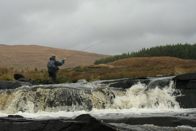 Trying a dry fly on Loch a'  Ghriama burn