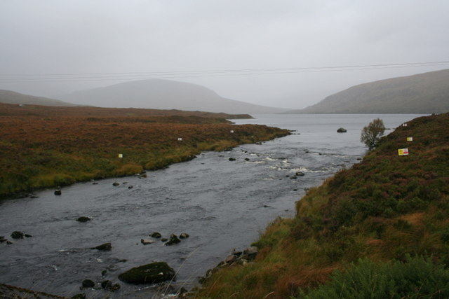 Northerly view of Loch a' Ghriama from the burn bridge