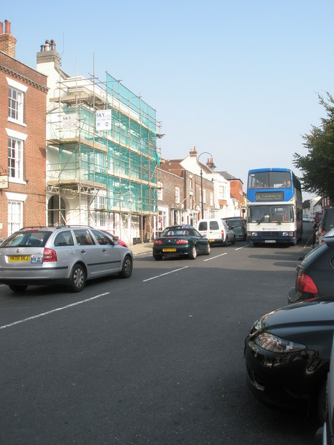 69 bus in the High Street