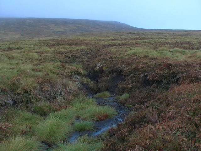 Peat hagg in Coire Beithe