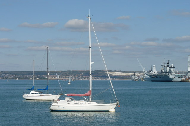 Yachts in Portsmouth Harbour, Hampshire