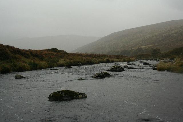 Rain dancing on the River Merkland