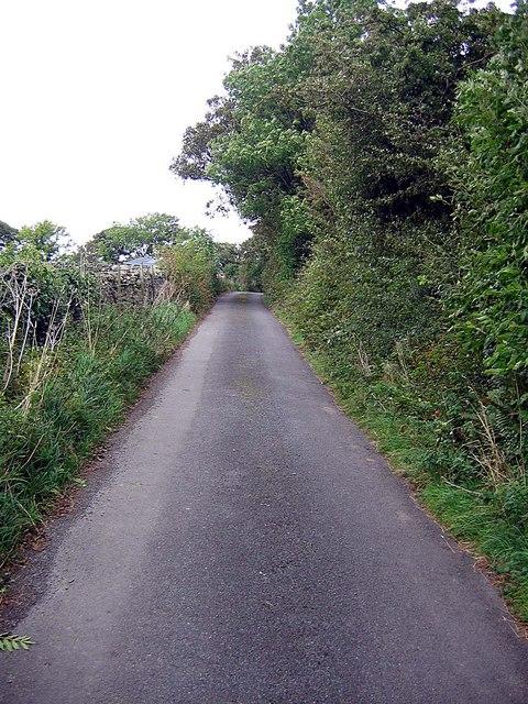 Lane approaching Hopebeck