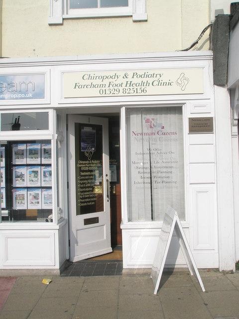 Fareham Foothealth Clinic  in the High Street