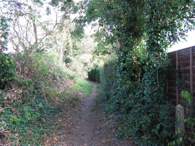 Bridleway at the rear of houses on Storrington Rise