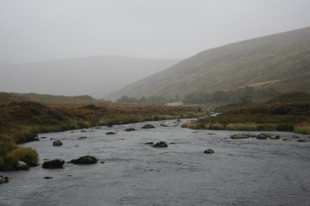 Looking upstream on the Merkland