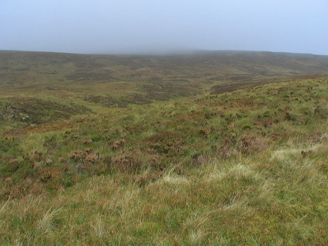 Un-named burn-course disappearing in slopes of Meall a' Phuill