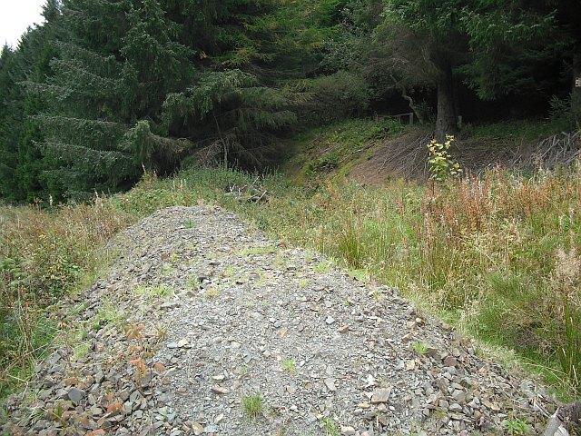Pile of roadstone, Hyndlee Glen