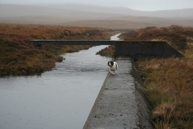 Southbound drainage ditch west of the Crask