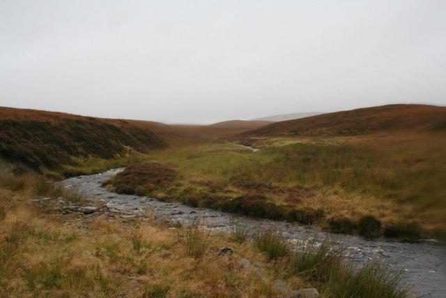 The desolate waters of Allt Bealach an Fhuarain