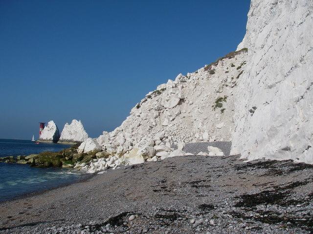 Rockfall in Scratchell's Bay