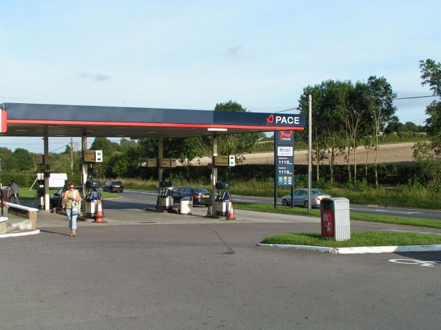 Chicklade services forecourt, A303