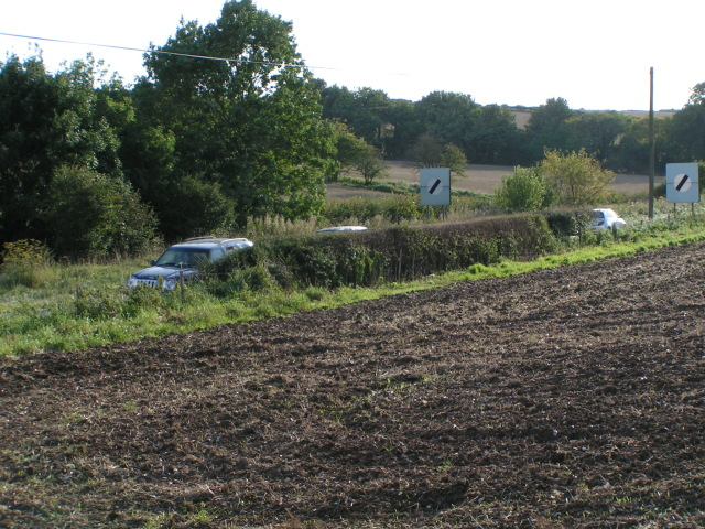 The A303 heading west, and a field next to Chicklade services
