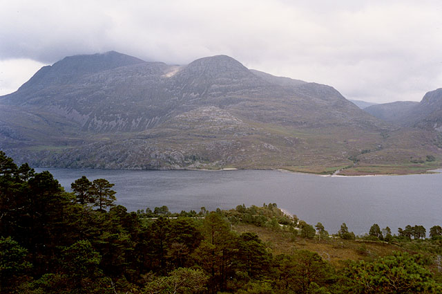 View over Loch Maree from the Mountain Trail