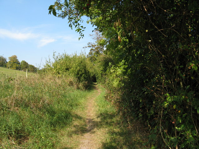 Footpath north to Findon Place