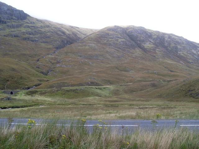 The Allt Coire Meannarclach cuts through the hills of Glen Coe