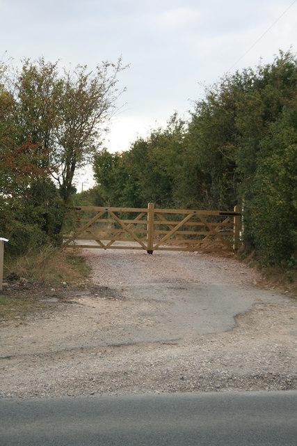 Track to Furzey Hall farm