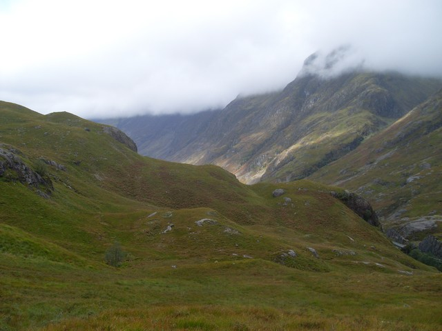 Pass of Glen Coe from the path into Lairig Eilde