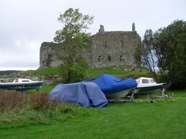 Castle Sween from the campsite