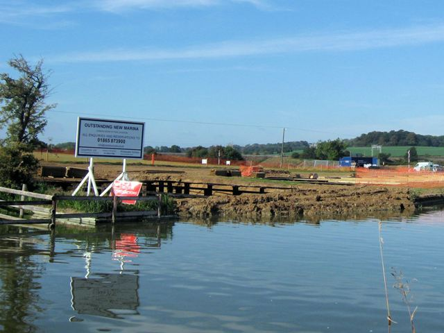 The southern end of the marina site