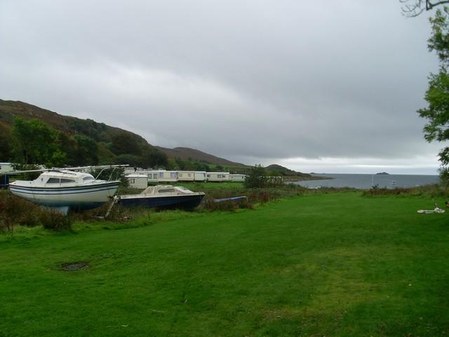 Castle Sween campsite and Loch Sween