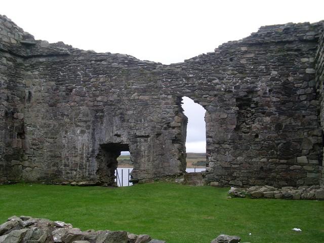 Inside Castle Sween