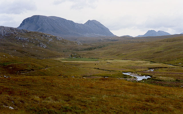 View along the Abhainn Bhraigh Horrisdale
