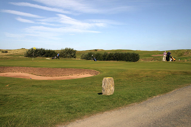 The 17th green at Goswick Golf Course