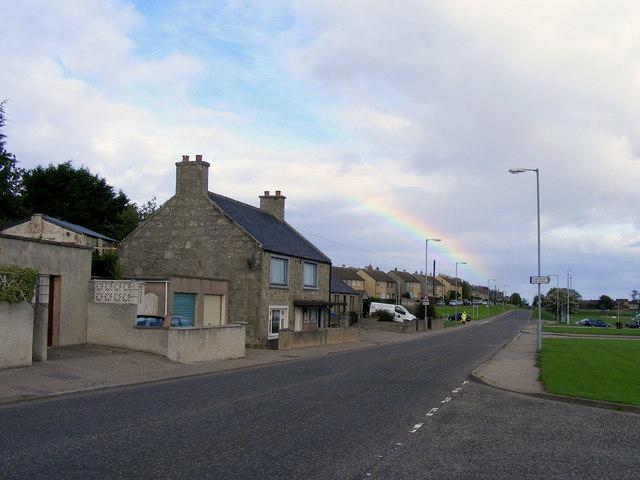 Coulardbank Road at Lossiemouth
