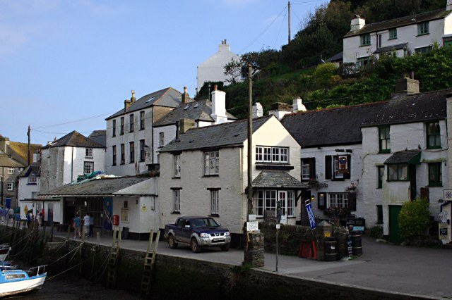 The Quayside at Polperro Harbour