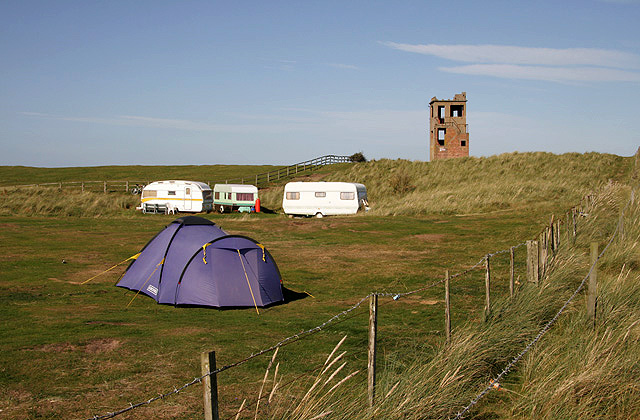The Beachcomber campsite at Goswick