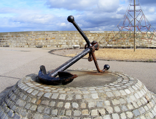 An Anchor on the Quayside at Lossiemouth
