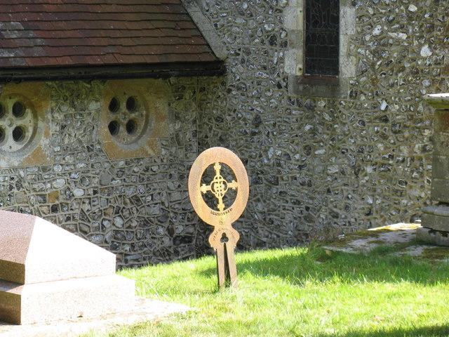 Iron headstone at St John the Baptist