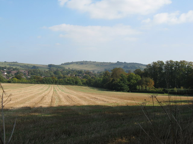 Cissbury Ring viewed from the western side of Findon valley