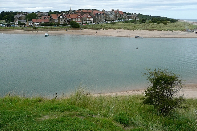 Alnmouth across the River Aln