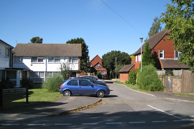 Yew Tree Close off Horley Row