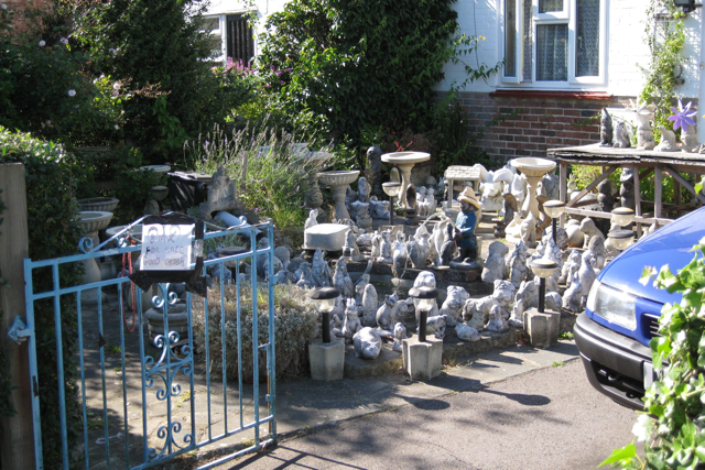 Garden gnomes for sale, Lee Street, Horley
