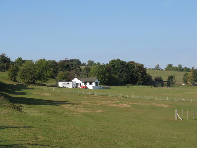 Cricket pitch and pavilion of Findon CC