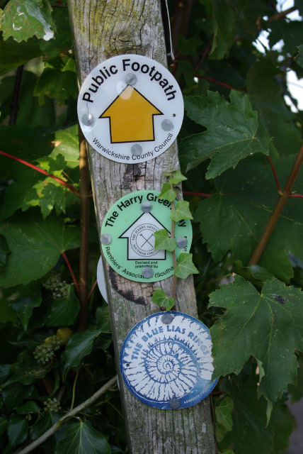 Footpath signs at Ufton